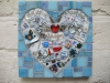 wedding mosaic plaque
