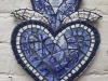 Spode blue heart with petals