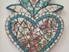 turquoise heart with petals 1